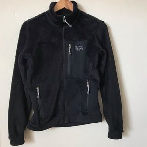 MOUNTAIN HARDWEAR black fleece sweater jacket XS